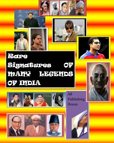 Rare Signatures of many Legends of India: with full colour Photographs: Natarajan S