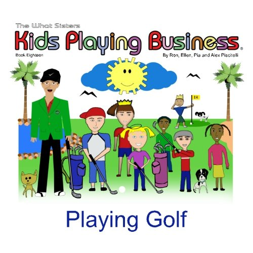 Playing Golf: Kids Playing Business