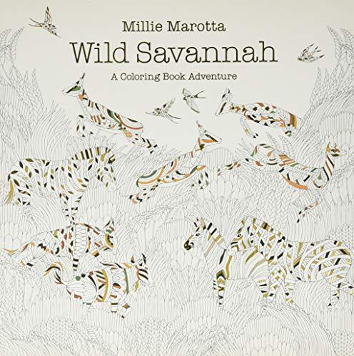 Wild Savannah: A Coloring Book Adventure (A