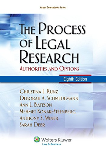 9781454805526: The Process of Legal Research: Authorities and Options