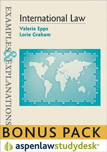 9781454805649: Examples & Explanations: International Law (Print + eBook Bonus Pack)