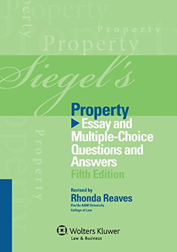 9781454809302: Siegel's Property: Essay and Multiple-Choice