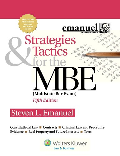 9781454809920: Strategies & Tactics for the MBE, Fifth Edition (Emanuel Bar Review)