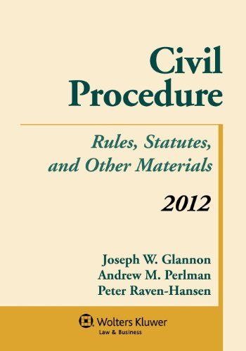 9781454810957: Civil Procedure: Rules Statutes & Other Materials 2012 Supplement