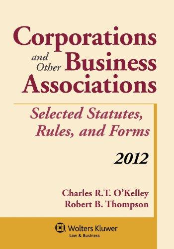 9781454811084: Corporations & Other Business Associations:2012 Statutory Supplement