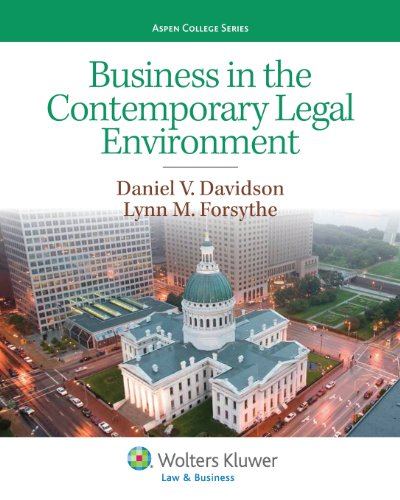 9781454816393: Business in the Contemporary Legal Environment (Aspen College)