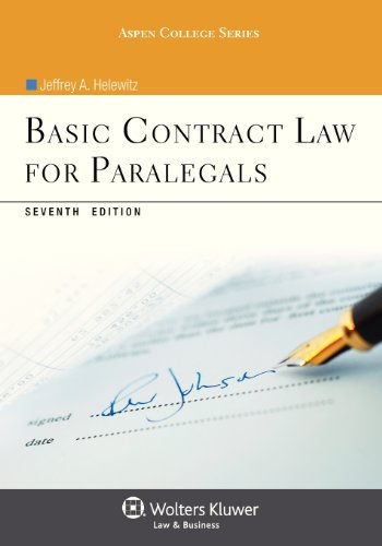 9781454816454: Basic Contract Law For Paralegals (Aspen College)