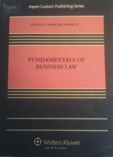 9781454816829: Fundamentals of Business Law (Aspen Custom Publish