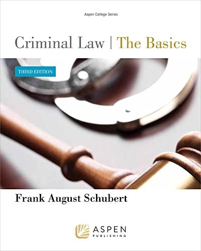 9781454818076: Criminal Law: The Basics 3e (Aspen College)