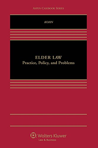 Elder Law 9781454837817 The casebook is a client-focused, teaching-oriented book. It integrates narrative with cases, statutes, regulatory materials, and commentaries to create a comprehensive, tightly organized teaching tool. A key feature is that, unlike the competing casebooks, the book is replete with problems, questions, and exercises designed to help students apply what they are learning and to facilitate lively classroom discussion. Many of these are client counseling hypotheticals that ask students to advise hypothetical clients or to describe how they would approach a client meeting.