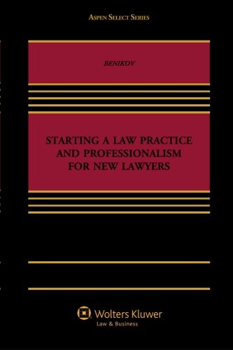 9781454839064: Starting A Law Practice and Professionalism for New Lawyers (Aspen Select)