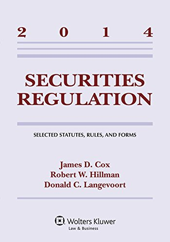 9781454840602: Securities Regulation: Selected Statutes Rules & Forms 2014 Supp