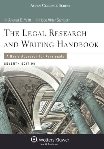 9781454840817: Legal Research and Writing Handbook: A Basic Approach for Paralegals (Aspen College)