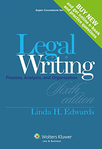 9781454841548: Legal Writing: Process, Analysis and Organization [Casebook Connect] (Aspen Coursebook)