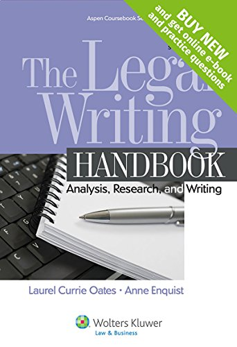 9781454841555: The Legal Writing Handbook: Analysis Research and Writing [Connected Casebook] (Aspen Coursebook)