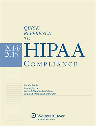 Quick Reference To HIPAA Compliance: Pamela Sande, Joan Vigliotta