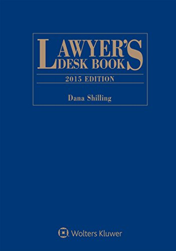 9781454844679: Lawyers Desk Book 2015e