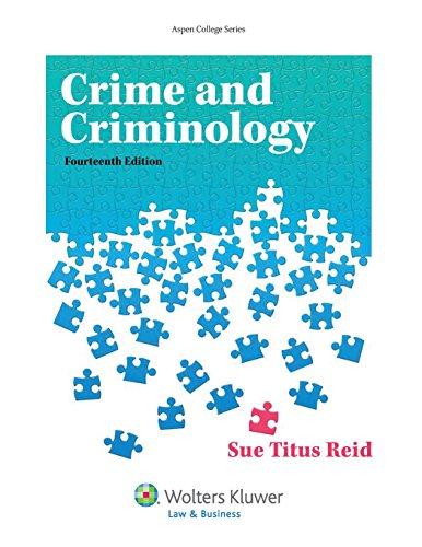 9781454847717: Crime and Criminology (Aspen College)