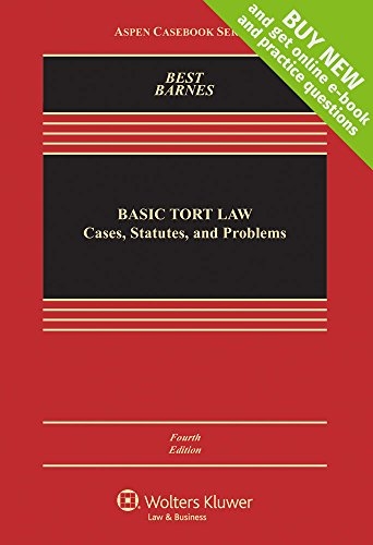 9781454849360: Basic Tort Law: Cases, Statutes and Problems [Connected Casebook] (Aspen Casebook)