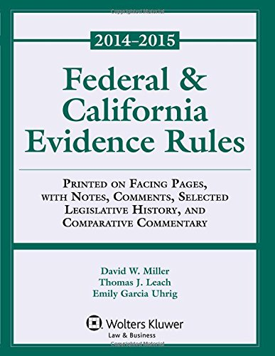 9781454851929: Federal & California Evidence Rules