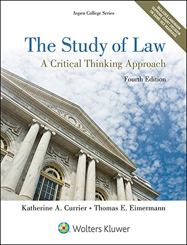 9781454852223: The Study of Law: A Critical Thinking Approach (Aspen College)