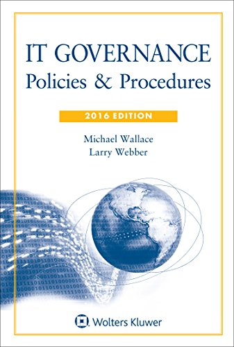9781454856283: IT Governance: Policies & Procedures, 2016 Edition with CD