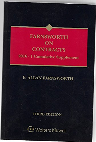 9781454856658: Farnsworth on Contracts 2016-1 Cumulative Supplement Volumes 1-3