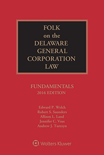 9781454856986: Folk on the Delaware General Corporation Law: Fundamentals, 2016 Edition
