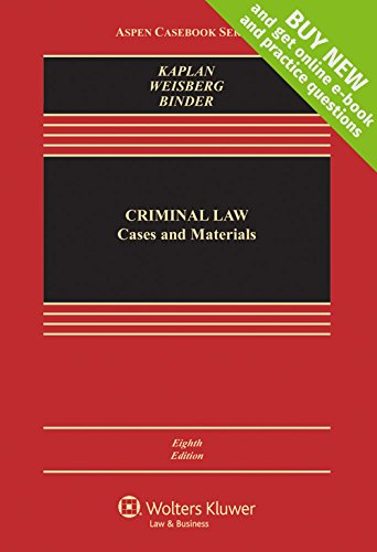 9781454868217: Criminal Law: Cases and Materials [Connected Casebook] (Aspen Casebook)