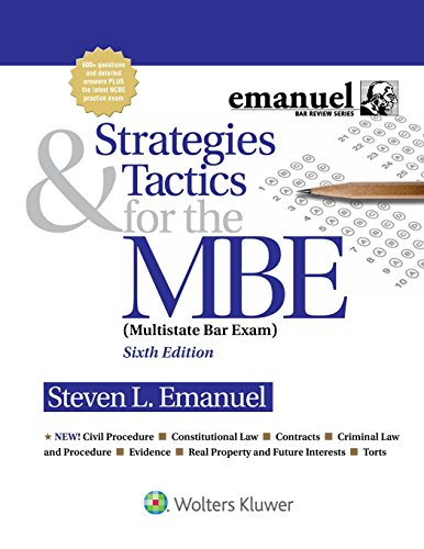 9781454873129: Strategies & Tactics for the MBE (Emanuel Bar Review)