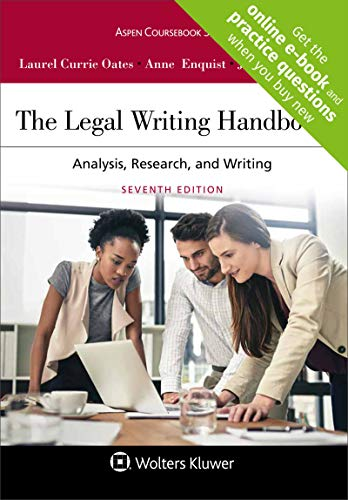9781454895282: The Legal Writing Handbook: Analysis, Research, and Writing (Aspen Coursebook)