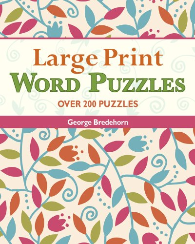 Large Print Word Puzzles: Bredehorn, George
