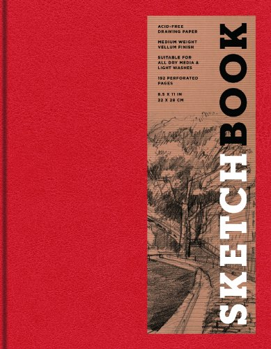 9781454909231: Sketchbook Large Bound Red (Sterling Sketchbooks)