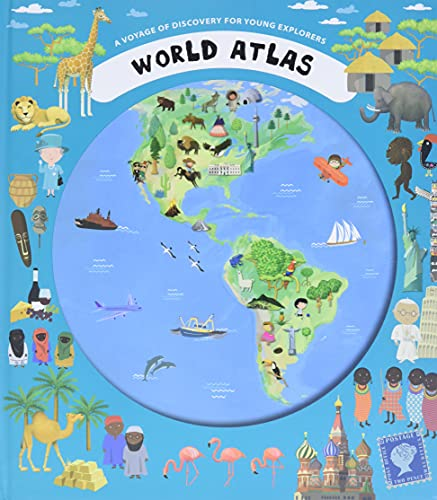 World atlas a voyage of discovery for young explorers hardback by view larger image gumiabroncs Gallery