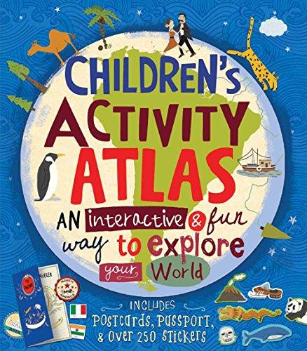 9781454913207: Children's Activity Atlas: An Interactive & Fun Way to Explore Your World, Includes Postcards & Passport