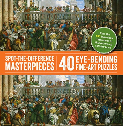 Spot-the-Difference Masterpieces: 40 Eye-Bending Fine-Art Puzzles: Puzzle Wright Press