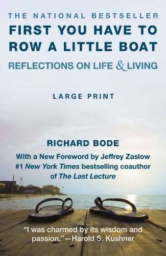 9781455545520: First You Have to Row a Little Boat: Reflections on Life & Living