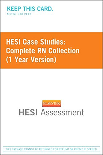 9781455727070: HESI Case Studies: Complete RN Collection (1 Year Version)