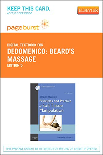 9781455734177: Beard's Massage - Elsevier eBook on VitalSource (Retail Access Card): Principles and Practice of Soft Tissue Manipulation