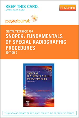 9781455734337: Fundamentals of Special Radiographic Procedures - Elsevier eBook on VitalSource (Retail Access Card), 5e