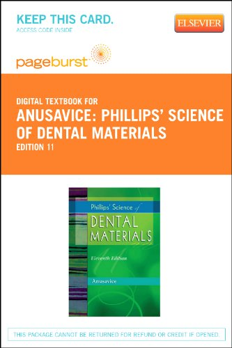 9781455734610: Phillips' Science of Dental Materials - Elsevier eBook on VitalSource (Retail Access Card), 11e