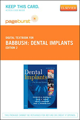 9781455735860: Dental Implants - Elsevier eBook on VitalSource (Retail Access Card): The Art and Science, 2e