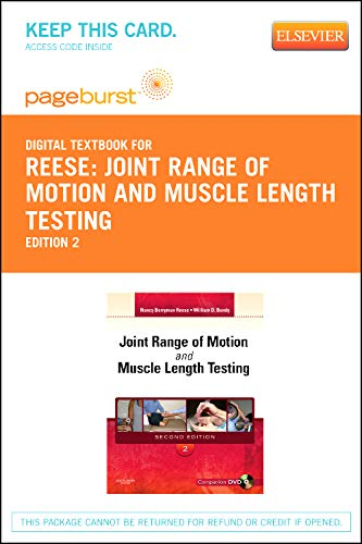 9781455736102: Joint Range of Motion and Muscle Length Testing - Elsevier eBook on VitalSource (Retail Access Card), 2e