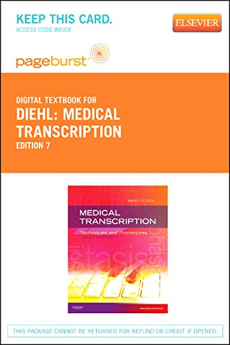 9781455736553: Medical Transcription - Elsevier eBook on VitalSource (Retail Access Card): Techniques and Procedures, 7e