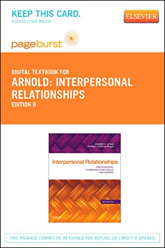 9781455736867: Interpersonal Relationships - Elsevier eBook on VitalSource (Retail Access Card): Professional Communication Skills for Nurses, 6e