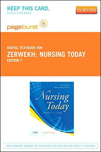 9781455737222: Nursing Today - Elsevier eBook on VitalSource (Retail Access Card): Transition and Trends, 7e