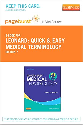 9781455742417: PART - Quick & Easy Medical Terminology - Pageburst E-Book on VitalSource (Retail Access Card), 7e