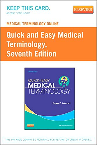 9781455742448: Medical Terminology Online for Quick & Easy Medical Terminology (Access Code)