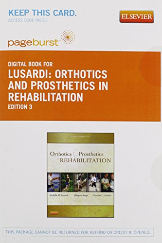 9781455745678: Orthotics and Prosthetics in Rehabilitation - Elsevier eBook on VitalSource (Retail Access Card), 3e