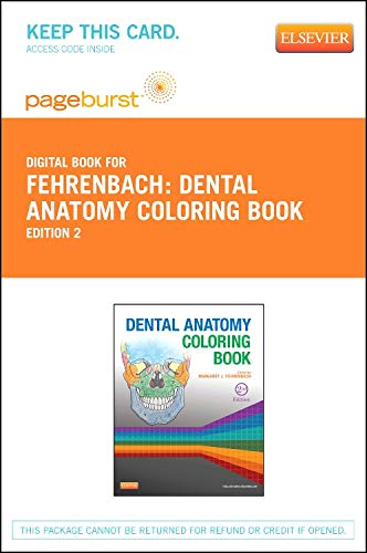 9781455749966: Dental Anatomy Coloring Book - Elsevier eBook on VitalSource (Retail Access Card), 2e